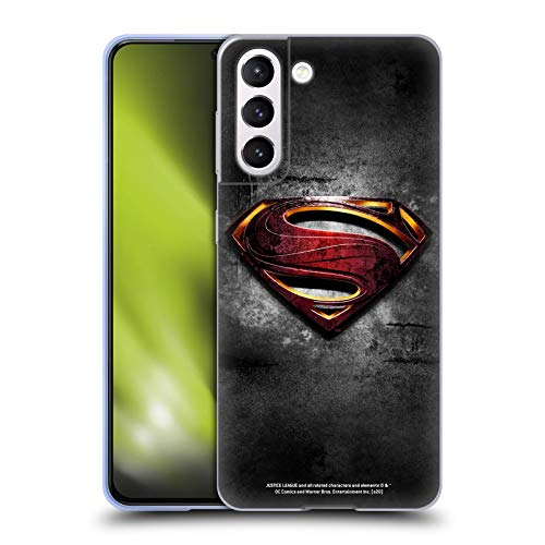 Head Case Designs Officially Licensed Justice League Movie Man of Steel Superman Logo Art Soft Gel Case Compatible with Samsung Galaxy S21 5G