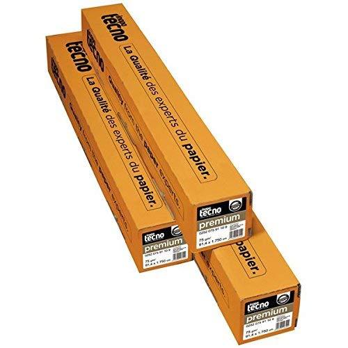 INAPA 0252 075 59 10 9 Speed Opake Papier für Großformatkopierer - 594 mm x 175 m, 75 g/qm, Kern- 7,50 cm, 2 Rollen