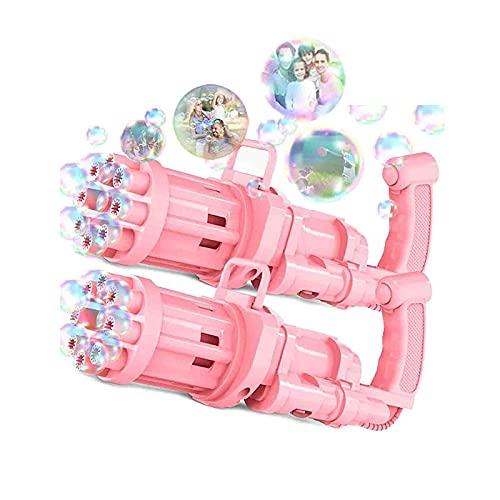 MJGkhiy Bubble Machine mit Seifenblasenlösung Kinder Spielzeug Geschenk Automatischer Seifenblasenmaschinen Spielzeug Pistole Seifenblasenpistole Badespielzeug für Kinder/Hochzeit/Geburtstag Party