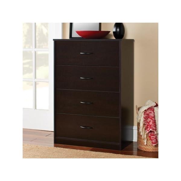 4-Drawer Chest Storage Office (1, Espresso)