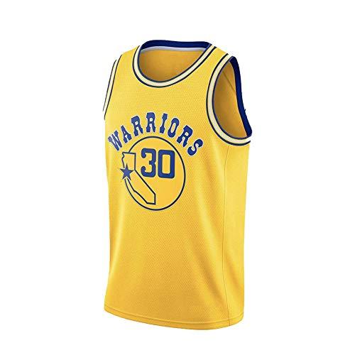 FGRGH # 30 Warriors Stephen - Camiseta de baloncesto atlética para hombre, bordado, uso diario amarillo ~ A-S (55 ~ 65 kg)