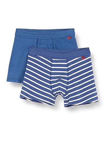 Sanetta Jungen Shorts im Doppelpack blau Boxershorts, Ink Blue, 140