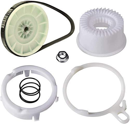 W10721967 Kit de embrague de la polea de la lavadora y correa de transmisión de la lavadora W10006384 para Whirlpool,Kenmore, sustituye las piezas AP5951296, W10536113, W10006352, W10006353, W10006356