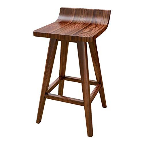 Tabouret de bar Mode Haute Tabouret De Bar Tabouret Créatif En Bois Massif Cuisine À Domicile Chaise De Petit Déjeuner Comptoir Design Moderne Style (Hauteur Assise: 45/65/75CM) (taille : 75cm)