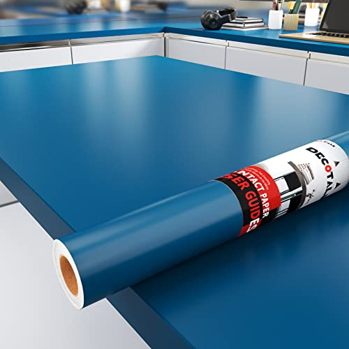 Decotalk Navy Blue Contact Paper Self Adhesive Wallpaper Waterproof Peel and...
