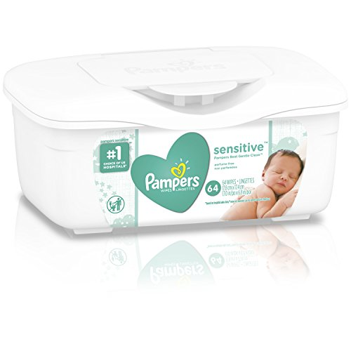 Pampers Sensitive, Water Based Baby Wipes, 64 Count