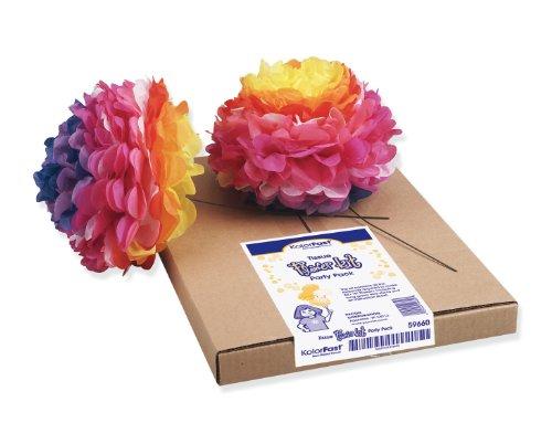 Pacon Art Tissue Flower Kit, Kit Of 84 Flowers