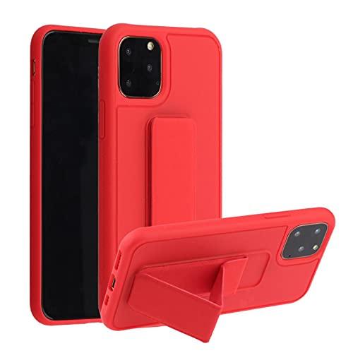 Suhctup Anti-caída Silicona Funda Compatible con Xiaomi Redmi 7,Color Puro Moda Antigolpe Carcasa con Magnética Soporte para Teléfono de Coche, Soporte Plegable de Pulsera