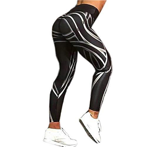 Koupany Dames Digitaal Printen Zwarte Broek Dames Workout Slanke Legging Jeggings Sexy Hippe Hoge Taille Yoga Broek