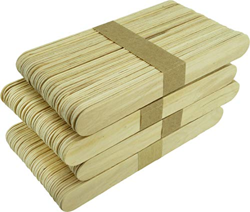 Bastelhölzer A00251015 Basteln aus unbehandeltem Birkenholz, 150x18x2mm, 200 Stück, natur, 150 mm