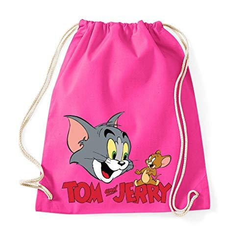 Youth Designz Baumwolltasche Turnbeutel Tasche Modell Jerry Tom - Pink