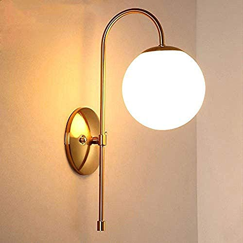 MEIXIAN Wandlamp binnen uniek en nieuw LED wandlampen glazen bol wandlampen voor thuis E14 Ac85-265V binnenverlichting wandlamp eenvoudig retro