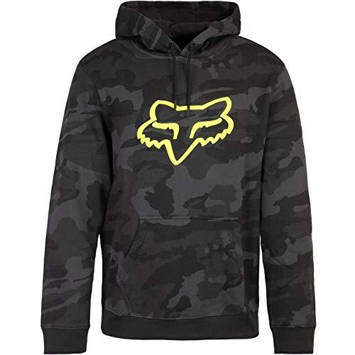 Fox Legacy Foxhead Camo Hoody Herren (L, Black Camouflage)
