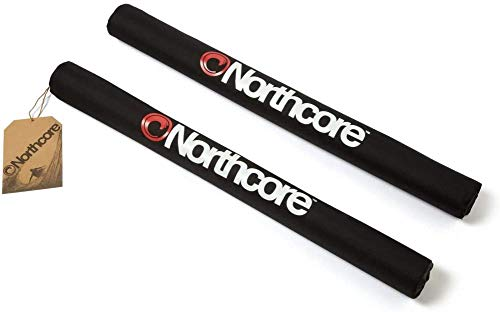 Northcore Wide Load Roof Bar Pads Accesorios de Tabla, Adultos Unisex, Negro (Negro), Talla Única