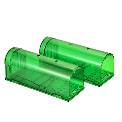 Authenzo 11 Upgraded Version of Intelligent Kill-Free Rat Trap Capture Green (2 pack)
