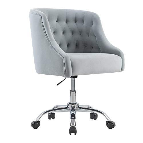 Computerstuhl/Drehstuhl/drehbar, stufenlos höhenverstellbar,Vintager Retro Sessel Polstersessel Samt Lounge Sessel Clubsessel Fernsehsessel
