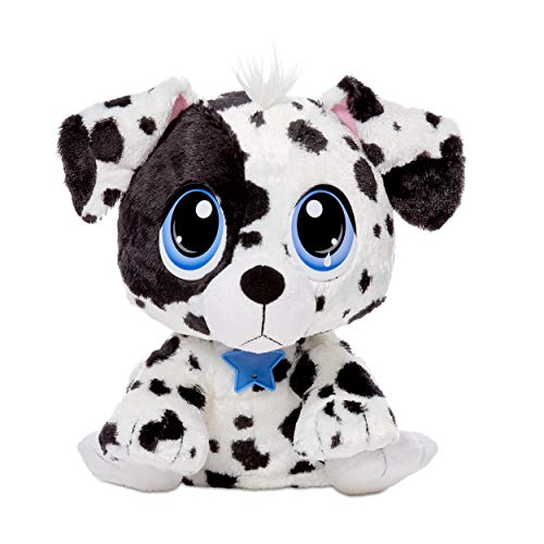 Little Tikes Rescue Tales Adoptable Pets - Dalmatian | Interactive Soft Cuddly Plush Pet Toy with Collar, Tag, Head Nods, Tail Wags, Lifelike Puppy Whines, Pants, and More Sounds | Ages 3+