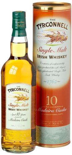 The Tyrconnell 10 Jahre Madeira Finish Irish Single Malt Whiskey, mit Geschenkverpackung, 46% Vol, 1 x 0,7l