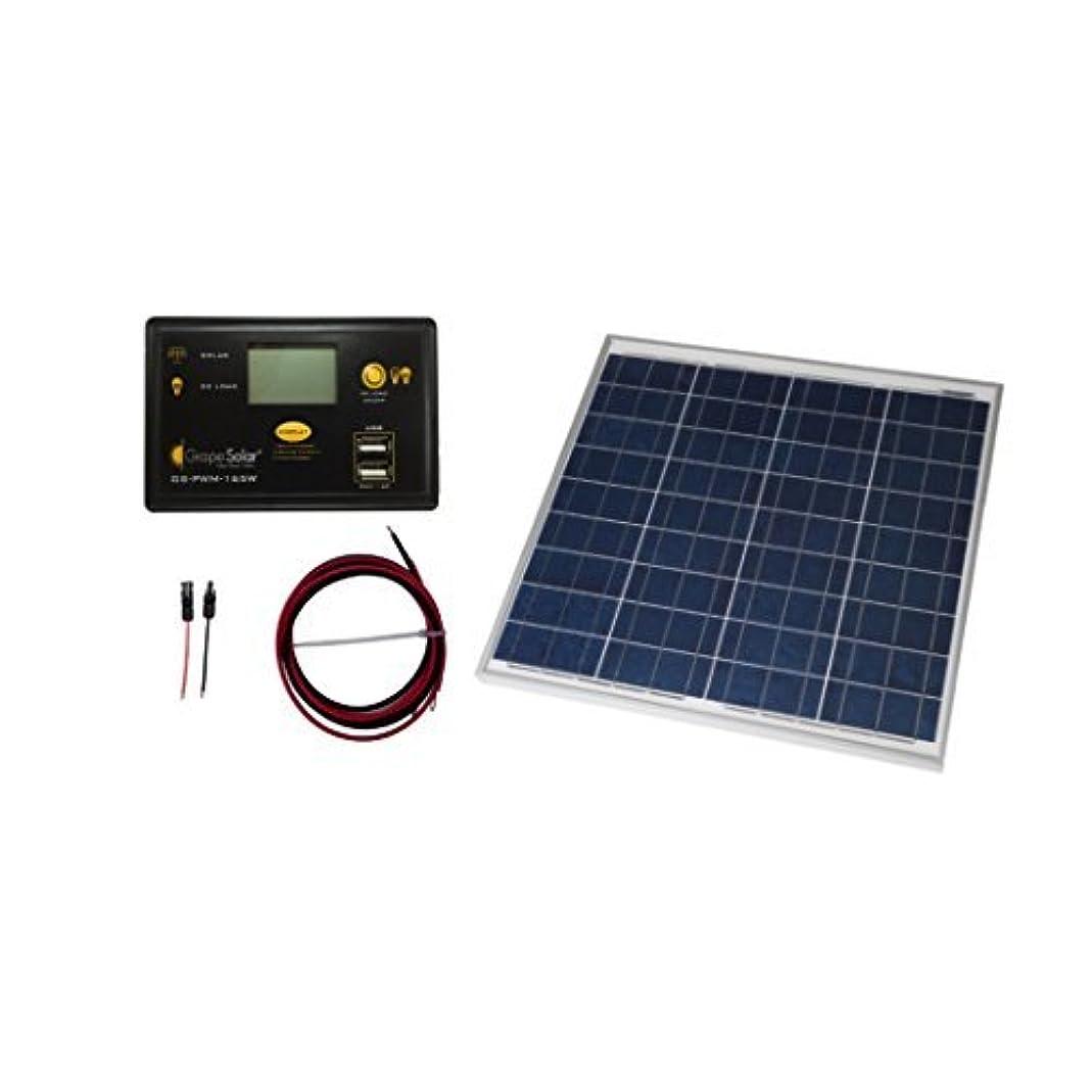 を除く禁止する大Grape Solar GS-50-KIT Off-Grid Solar Panel Kit 50W [並行輸入品]
