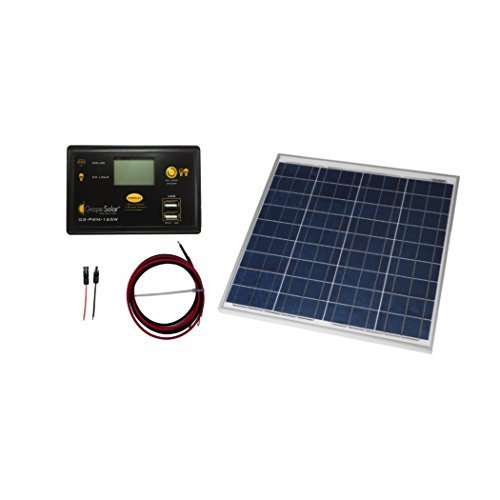 Grape Solar GS-50-KIT 50W Polycrystalline Solar Panel Charging Kit