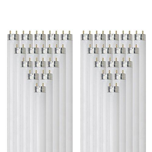 Sunlite F32T8/SP750 32-Watt T8 Linear Fluorescent Light Bulb Medium Bi Pin Base, 5000K, 30-Pack