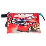 Disney Cars Speed Trails Astuccio Triplo Rosso 22x12x5 cms Poliestere