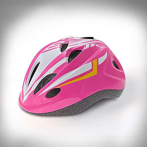 Skate-Helm für Kinder Skate-Scooter Fahrrad-Skate-Helm Rosa weißer Skorpion (mit LED-Licht) EIN Größencodierter Lichtregler