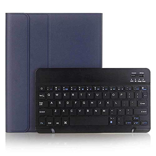RZL PAD & TAB cases For iPad 10.2' 2019, Ultra Slim Wireless Bluetooth Keyboard Cover PU Leather Keyboard Protective Shell Case For iPad 7th Gen (Color : Blue Black)