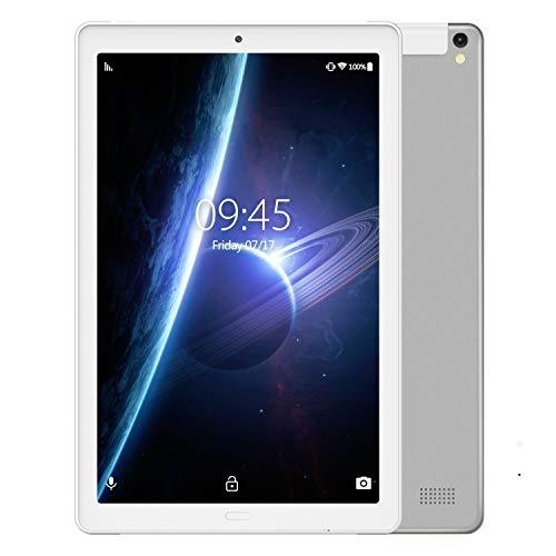 Tablet 10.1 Pulgadas YESTEL Android 8.1 Tablets con 3GB RAM & 32GB ROM y LTE Dual SIM Call, 5.0 MP + 8.0 MP HD la Cámara y 8000mAH-Plata