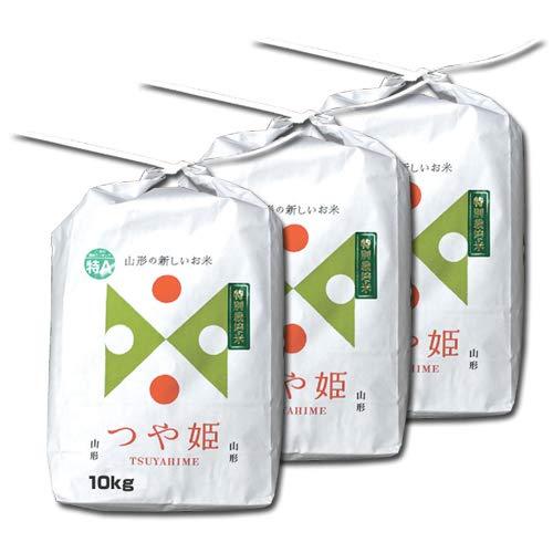 つや姫 玄米 30kg 山形県産 庄内産 (10kg×3袋・特別栽培米) 一等米 9年連続特A 令和2年産