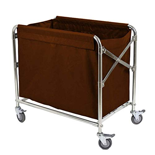 LJWJ Carts,Storage Car Service Car Utility Vehicle Multifunction Portable Trolley Home Cart Tool Folding Linen Cart for Hotel, Laundry Sorter Rolling Cart with Universal Brake Wheel, Room Service Rol