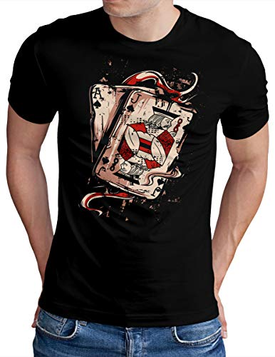 OM3® Deck of Playing Cards T-Shirt | Herren | Welcome to Fabulous Las Vegas | Schwarz, L