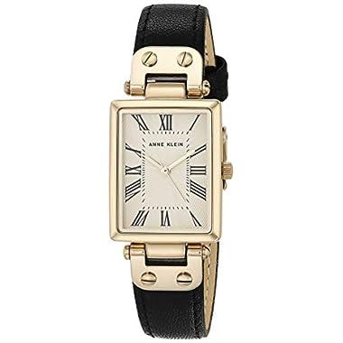 Anne Klein Women's Leather Strap Watch, AK/3752