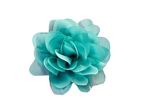 La Loria - Donna Clip Decorative Per Scarpe Sunny Flower Gioielli, Spille, le clip del pattino in colore verde - 1 Coppia