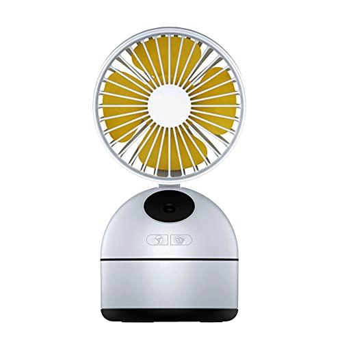 WSWD PEQUEÑO Fan DOZ DE Estudiantes USB, Dormitorio para el hogar de la Oficina en Silencio, un Mini acondicionador de Aire de Carga portátil