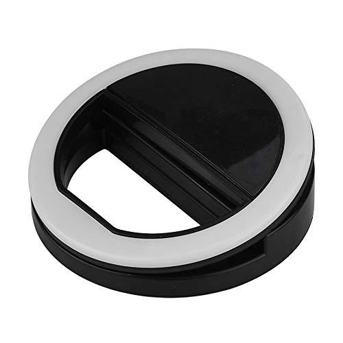 Astibym Anillo LED, luz de Relleno Fotografía de luz de Relleno de Selfie Cámara de luz de Relleno de Tres Brillos 36 Bombillas LED para Selfie para teléfono Inteligente(Negro)