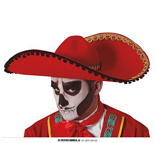 Guirca Sombrero de Mexicano Rojo Fieltro