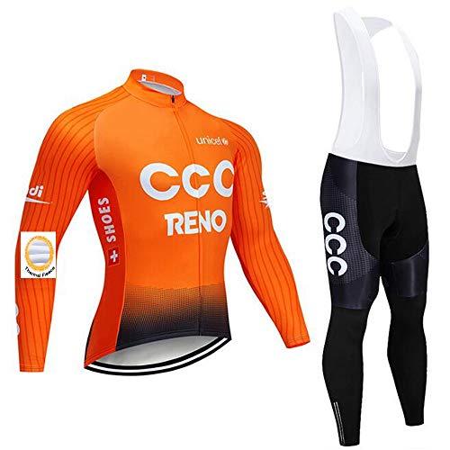 Bike Vêtements de Cyclisme d'hiver avec Pantalon à Bretelles rembourré en Gel pour vélo de Route VTT