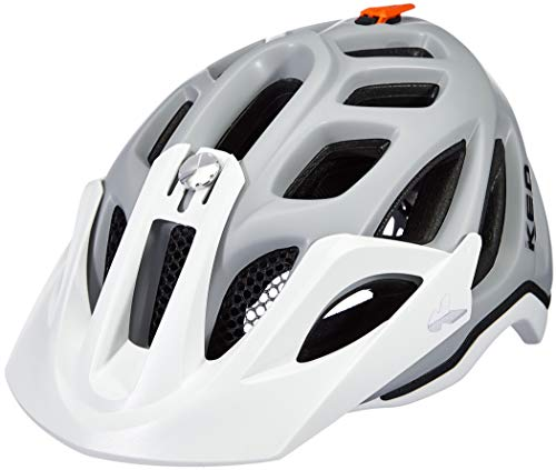 KED Trailon - Casco de Bicicleta - Gris/Blanco Contorno de l