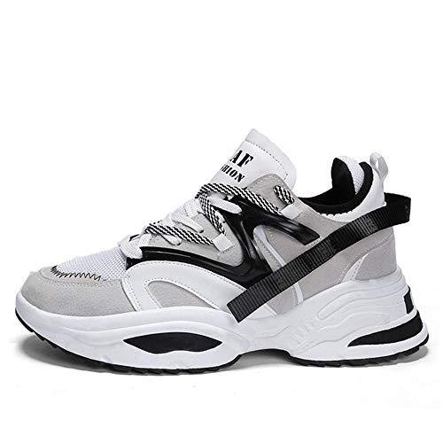 IDE Play Femmes Hommes Chaussures de Course Formateurs Sport Gym Jogging Marche athlétique Fitness en Plein air Chaussures de Sport,Blanc,35