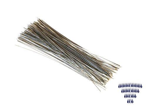 Kettingdraad 0,5 x 60 mm 100 stuks chroom V2A - draad - knutselbenodigdheden - sieraden maken - kristal gordijn