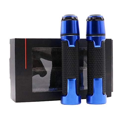 Empuñaduras de Moto Manillar Accesorios De Motocicleta De 7/8 `` 22mm, Empuñaduras De Manillar, Extremos De Barra Benelli BN251 TNT250 TNT25 / BN TNT 25251250 (Color : Azul)