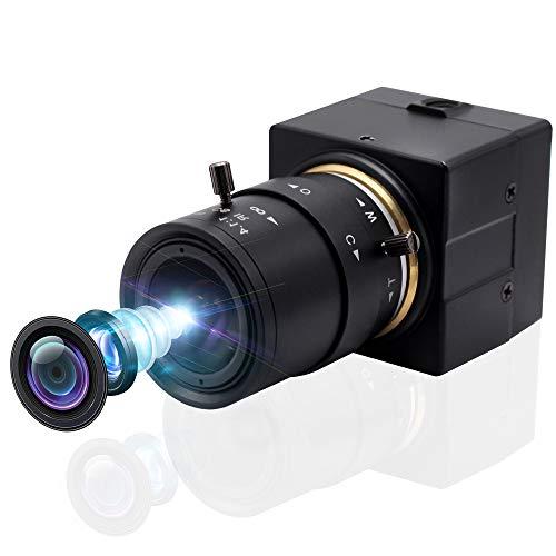 Svpro 5X Optical Zoom Webcam Full HD 1080P USB cámara 2,8-12 mm objetivo manual USB con cámara High Frame 100 pfs metal Mini Camcoder Home Security cámara de seguridad UVC gratis