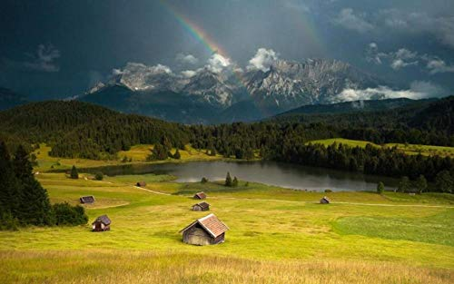 Rainbow After The Rain Puzzles 200 Piezas Para Adultos Niños Niños Juegos Juguetes Educativos