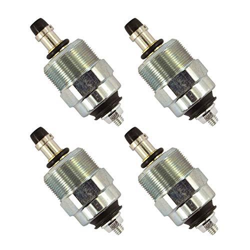 Notonmek 24V 146650-0820 146650-1320 Diesel Fuel Shut Off Solenoid Valve 096030-0080 096030-0170 4PCS Compatible with Cummins Fuel Injection Pump Compatible with Bosch Zexel EPVE VE Pump