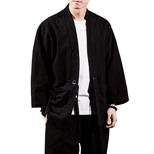 Chaqueta Retro de Color sólido para Hombre, Ropa de Calle a la Moda, Tendencia de Gran tamaño, Bolsillos con Costuras Sueltas, Camisetas de diseño Personalizado 3XL