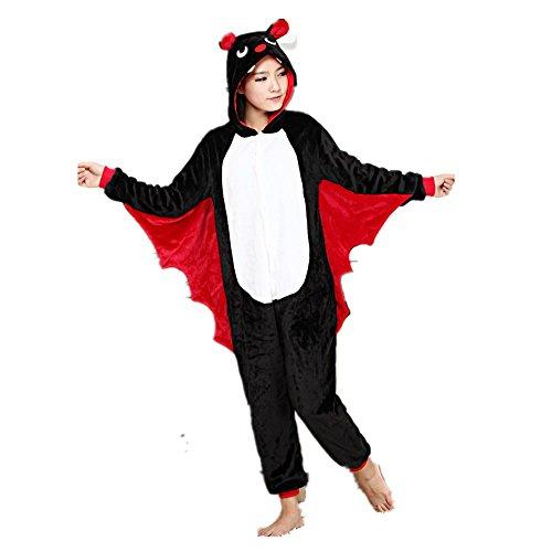 Misslight Pipistrello Animali Pigiama Unisex Cosplay Carnevale Costume Pigiami Camicie da Notte per Adulti e Bambini (M, Pipistrello)