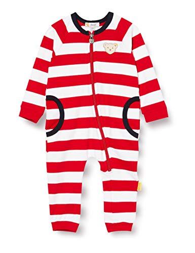 Steiff Baby-Mädchen Strampler, Rot (Tango Red 4008), 50 (Herstellergröße: 050)