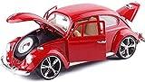 Modelo de coche 1:18 Simulación retro clásico del coche del escarabajo de aleación modelo de coche puede abrir la puerta for sentarse juguete de regalo Caja de Colección Exclusiva modelo (color: rojo)