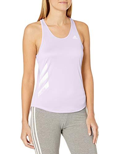 adidas Own The Run 3-Stripes PB - Camiseta sin Mangas para Mujer - IDE45, Own The Run Playera sin Mangas con 3 Rayas, S, Tinte Morado.